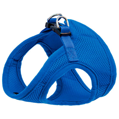 Шлейка мягкая Триол с поводком синяя обхват груди 40см поводок 1,5*120см