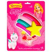 Набор подарочный принцесса счастливая звезда губная помада+блеск д/губ+тени д/век