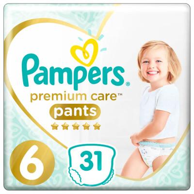 Трусики-подгузники Pampers Pants Premium 31шт Extra Large 15+кг 6 для мальчиков и девочек
