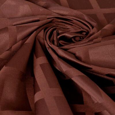 Скатерть Этель геометрия 150*200см шоколадный водоотталкивающая