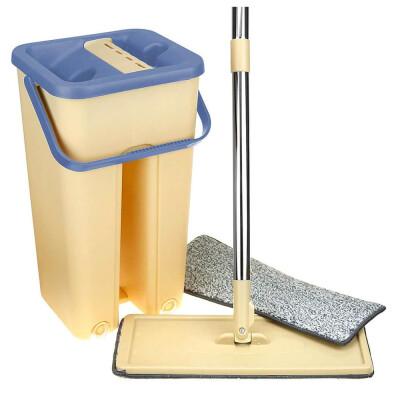 Ведро со шваброй Scratch Cleaning Mop 3,3 л бежевое