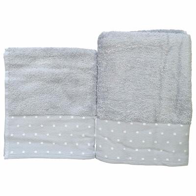 Полотенце махровое лантана 090 50*80 серый
