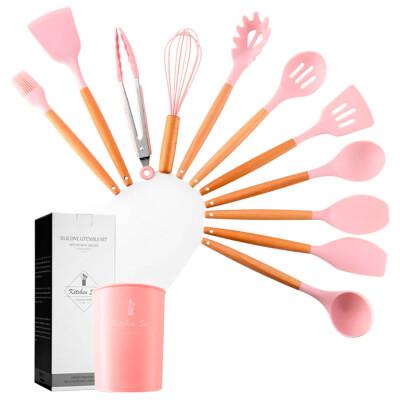 Набор кухонный 12пр Kitchen set розовый