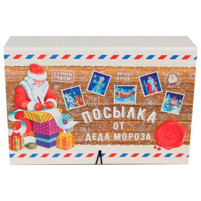 Коробка-книга Miland Посылка деда мороза 13,5*20*6см кн-1653