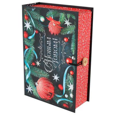 Коробка-книга Miland С новым годом игрушки 13,5*20*6см кн-1655