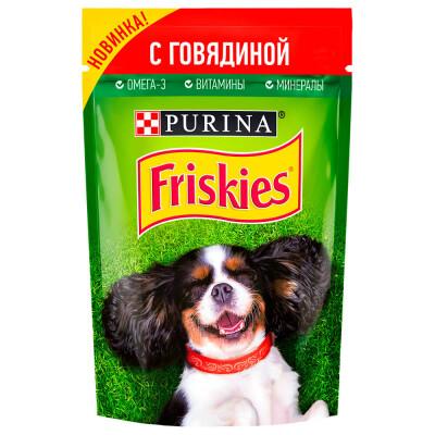 Корм для собак Friskies 85г с говядиной