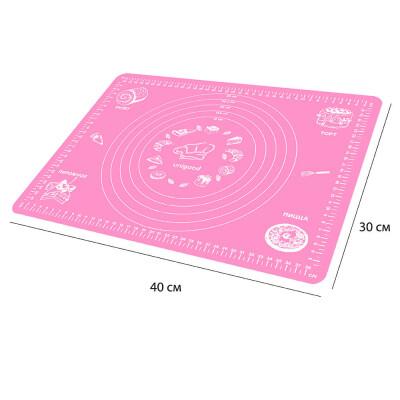 Коврик силиконовый 40*30см Unigood розовый