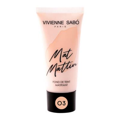 Крем для лица Vivienne Sabo тональный матирующий тон 03