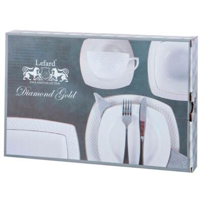 Блюдо 25,5см Lefard прямоугольное Диаманд Голд 359-761
