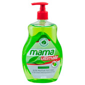 Средство для мытья посуды Mama Ultimate 1л концентрат зелёный чай