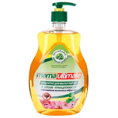 Средство для мытья посуды Mama Ultimate 1л концентрат японский абрикос