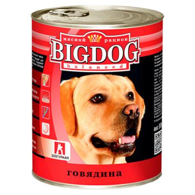 Корм для собак BIG DOG 850г говядина