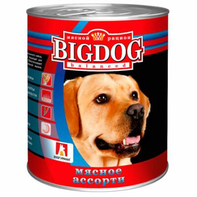 Корм для собак BIG DOG 850г мясное ассорти