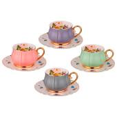 Чайный набор 8пр 4персоны 200мл Lefard времена года 275-1170