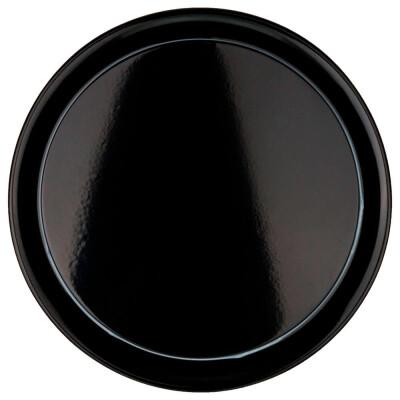 Блюдо для блинов 28,5*12см  Agness черное золото 790-167