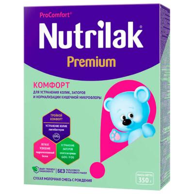 Смесь Nutrilak 350г молочная Premium комфорт картон с рождения