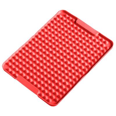 Коврик-антижир 28*22см силикон красный 3139672