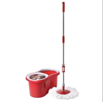 Комплект для уборки Spin Mop система дабл драйв+1 доп насадка красный