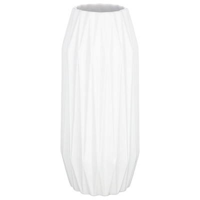 Ваза 15,3*36см Lefard белая глазурь 110-1021