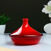 Тажин №2 1л борисочкая керамика красный 1087744