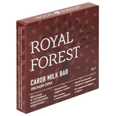 Шоколад Royal Forest кэроб Milk Bar 75г лесной орех