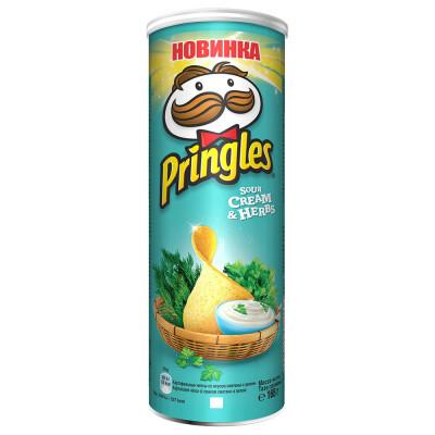 Чипсы Pringles 165г сметана и зелень