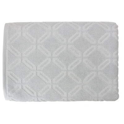 Махровое полотенце Belezza Латтик 090 70*140см серый
