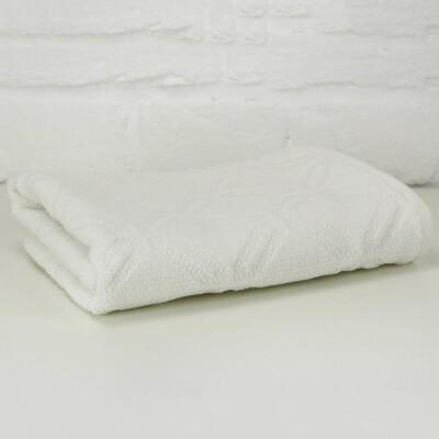 Махровое полотенце Belezza Латтик 001 70*140см белый