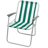 Кресло складное 4 ника зелено-белый кс4/зб
