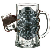 Набор кружка пивная рюмка 600/30мл Вернисаж подарков Ерш 352-276