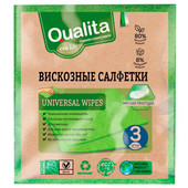 Салфетки Qualita 3шт Eco Life вискозные