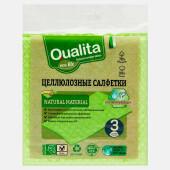 Салфетки Qualita 3шт Eco Life влаговпитывающие