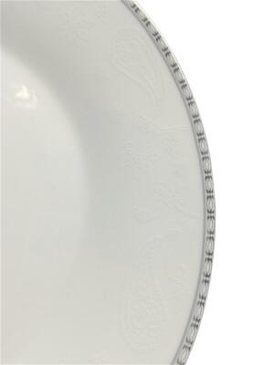 Набор посуды 19пр 6персон 26*19,5*23см Milvis белый серебрянная каемка