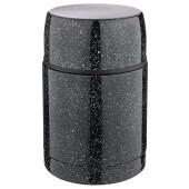Термос 500мл Agness черный нержавеющая сталь широкое горло крышка чаша 910-105