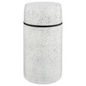 Термос 1000мл Agness белый колба нержавеющая сталь широкое горло кышка чаша 910-110