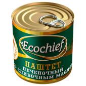 Паштет Ecochief 250г печеночный со сливочным маслом гост ж/б ключ