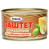 Паштет Рузком 230г домашний со сливочным маслом ж/б