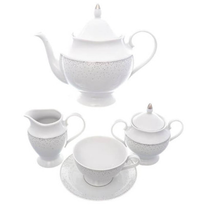 Чайный набор 15пр 6персон Repast жемчуг фарфор 47579