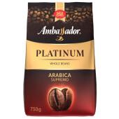 Кофе Ambassador Platinum 750г зерно