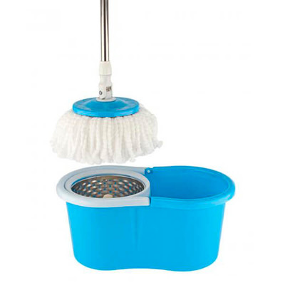 Комплект для уборки Spin Mop система дабл драйв+1 доп насадка синий