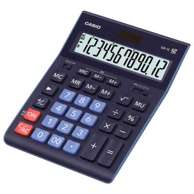 Калькулятор Casio 12-разрядный синий 242х166х42мм gr-12-bu-w-ep