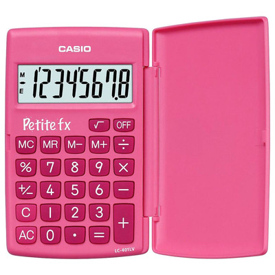 Калькулятор Casio розовый 120*75*11мм lc-401lv-pk-s-a-ep