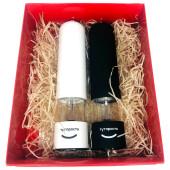 Подарочный набор электромельниц ТутПросто белый+электромельница ТутПросто черный