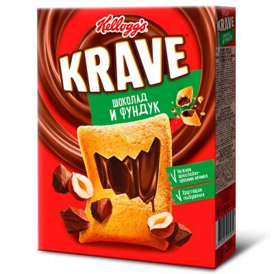Подушечки Kellogg's Krave 220г шоколадно-ореховые