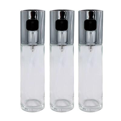 Акция 2+1 Набор распылителей Европа 17,5см серебряный пластик+стекло yj-008 (3 шт)