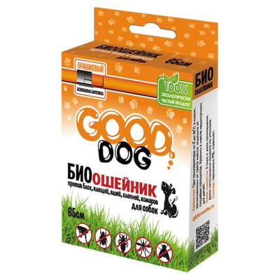 Биоошейник Good Dog антипаразитарный для собак от блох и клещей черный 65см