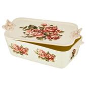 Блюдо 30см лефард корейская роза с крышкой 69-2655