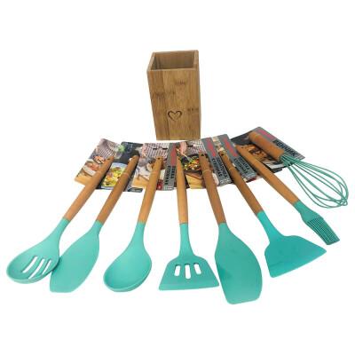Набор кухонных принадлежностей 9пр юнигуд бирюзовый