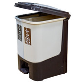 Контейнер бытовой д/раздельного сбора мусора юнигуд 33*33*44см бежевый/коричневый sw-01