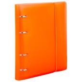 Тетрадь на кольцах Brauberg клетка 120л а5 оранжевый с резинкой 175х220мм 403571